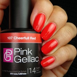 Pink Gellac #107 Cheerfull Red