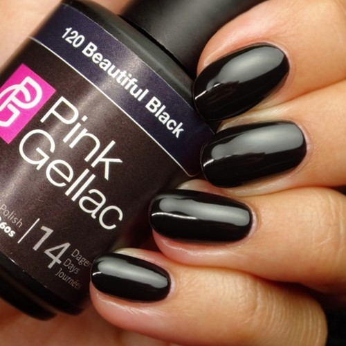Pink Gellac #120 Beautiful Black