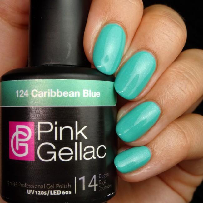 Afbeelding van Pink Gellac #124 Caribbean Blue