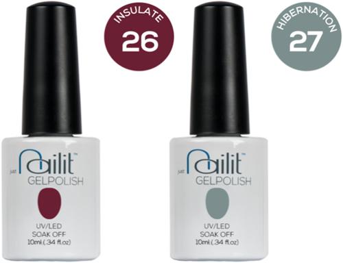 Nailit - Gelpolish Starterkit Combi 6 #26+ #27
