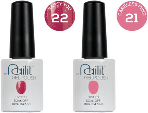 Nailit - Gelpolish Starterkit Combi 5 #21+ #22