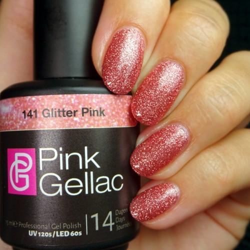 Pink Gellac #141 Glitter Pink