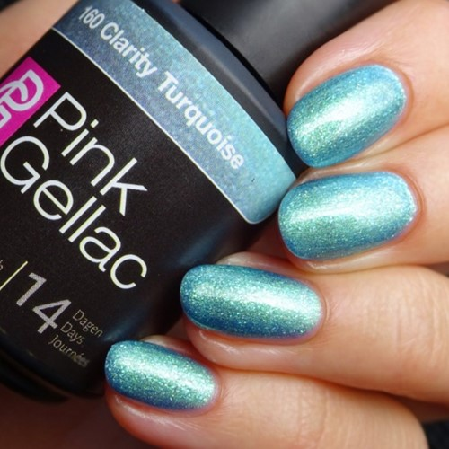 Pink Gellac clarity turquoise