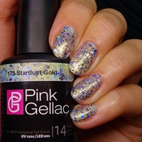 Pink Gellac #175 Stardust Gold