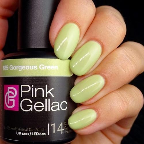 Pink Gellac #185 Gorgeous Green