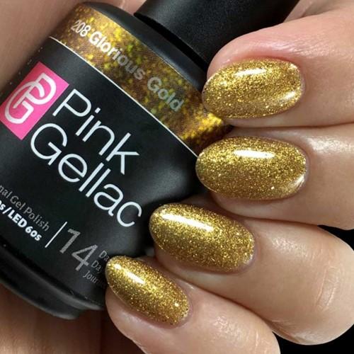 Pink Gellac #208 Glorious Gold