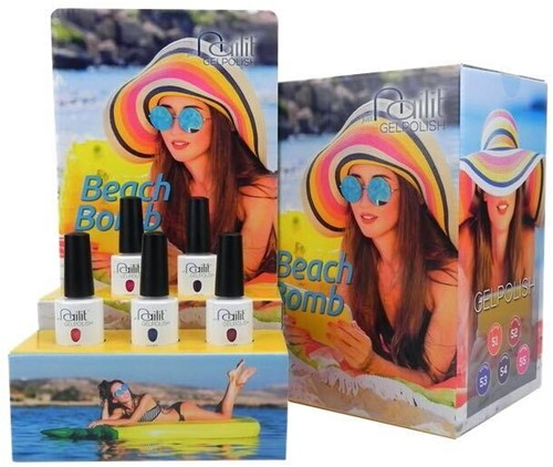 NailIt Gelpolish -  Beach Bomb Collectie Display