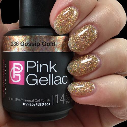 Pink Gellac #236 Gossip Gold