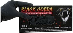 Latex handschoenen Black Cobra maat