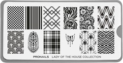 ProNails - Stamping Plate Lady of the House + Scraper
