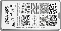 ProNails - Stamping Plate Warm Wishes + Scraper