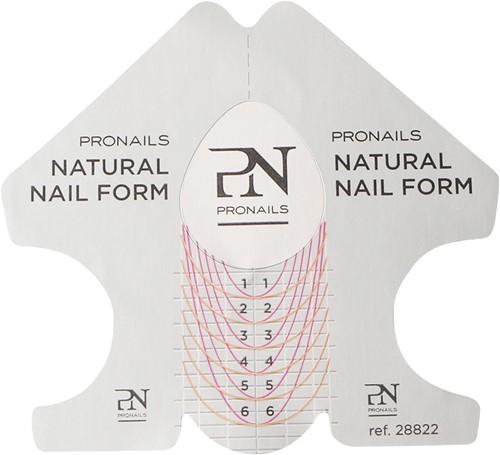 ProNails Natural Nail Forms 500 pcs