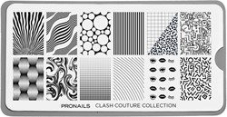ProNails Stamping Plate Clash Couture Collection + Scraper