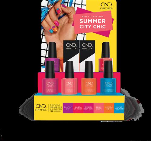 CND™ VINYLUX™ SUMMER CITY CHIC POP DISPLAY - INCL  ZOMERSE BANDANA