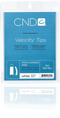 CND™ Velocity Tips - White 100 st.
