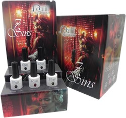 NailIt Gelpolish - 7 Sins Display