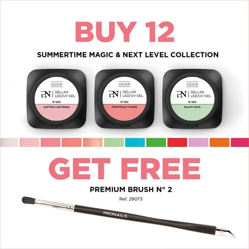 ProNails - Gellak Deal SS20 12 PCS + Gratis Unlimited Brush