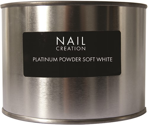 Nail Creation Platinum Powder - Soft White 350 gm