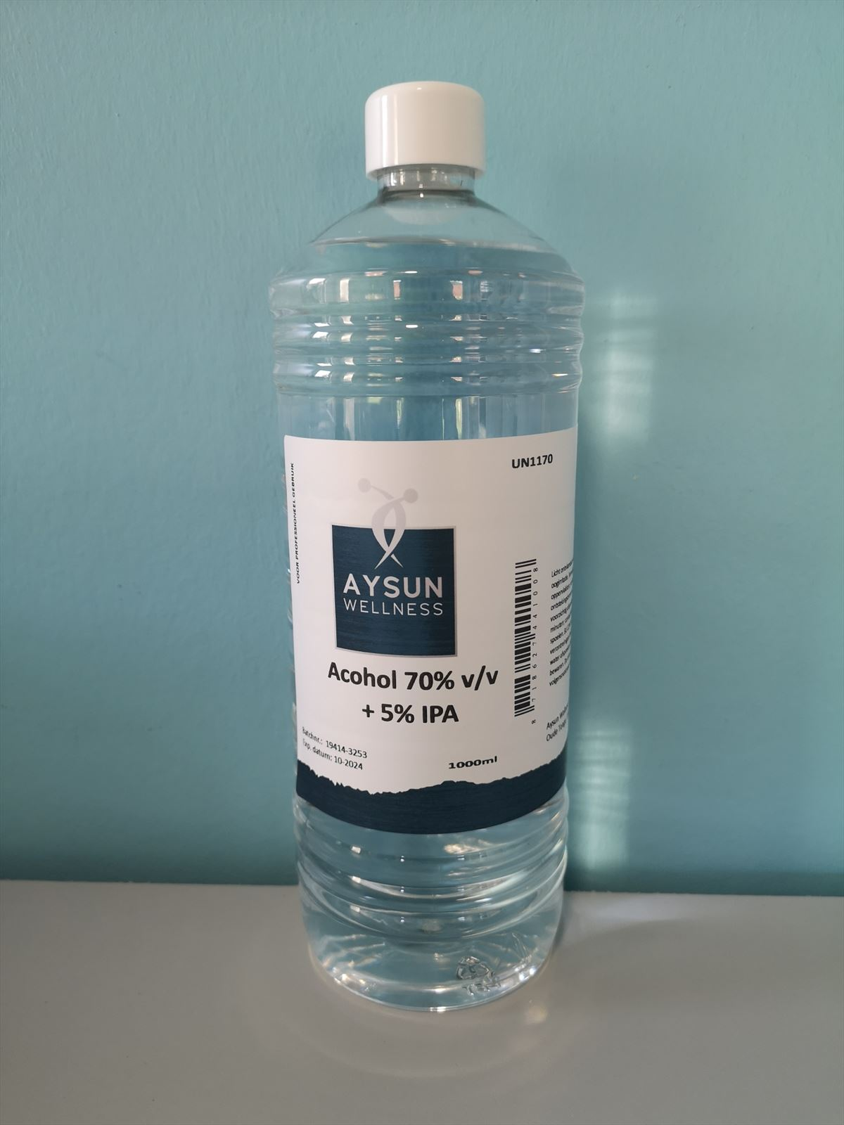 Afbeelding van Alcohol 70% v/v + 5% IPA - 1000 ml