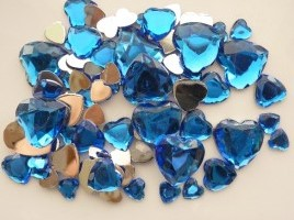 Strass steentjes - Hart blauw
