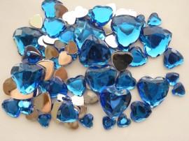 Afbeelding van Strass steentjes - Hart blauw