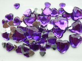 Afbeelding van Strass steentjes - Hart paars