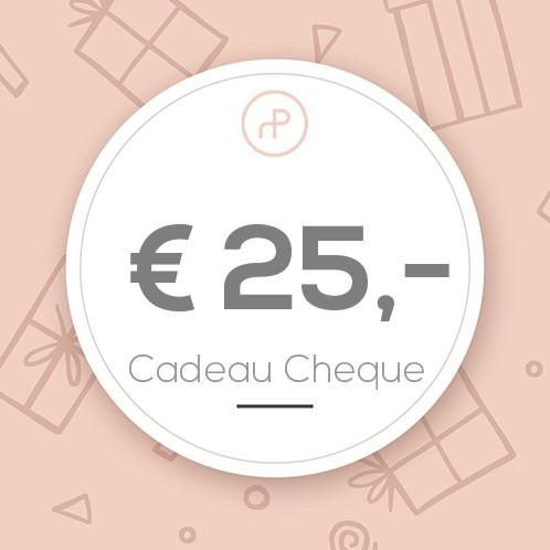 Cadeau Cheque €25,-