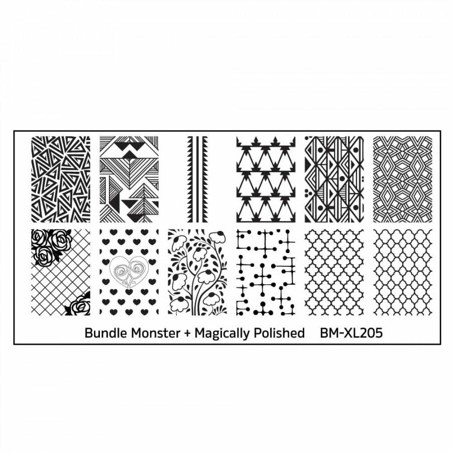 Afbeelding van Bundle Monster Stempelplaat - BM-XL205