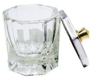 Glazen Dappendish met deksel