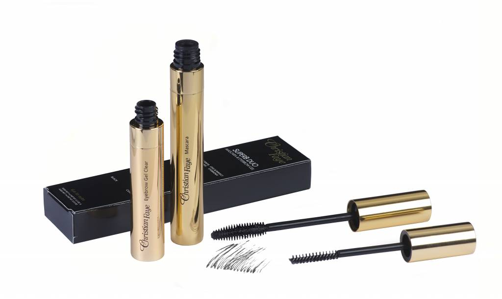 Afbeelding van Christian Faye SuperB Duo Kit - Mascara + Wenkbrauw gel Clear