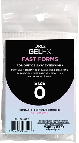 Orly BIAB Fast Forms Size 0