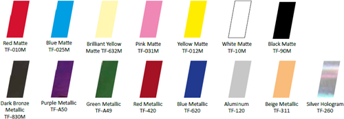 Nail Foils Yellow Matte