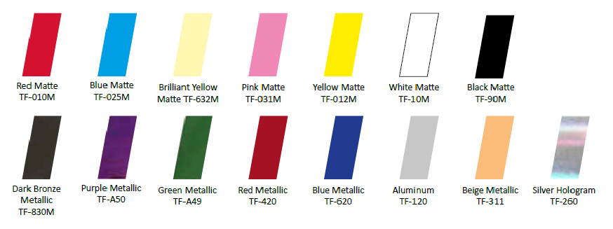 Afbeelding van Nail Foils Yellow Matte