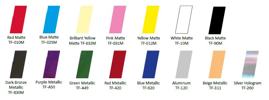 Afbeelding van Nail Foils Brilliant Yellow Matte