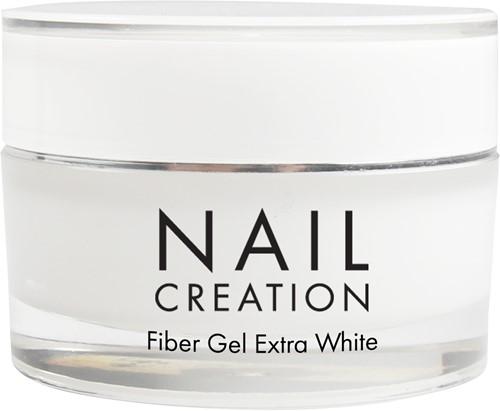 Nail Creation Fiber Gel - Extra White