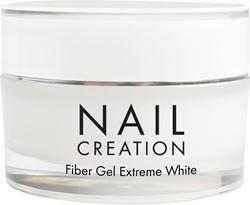 Nail Creation Fiber Gel - Extreme White