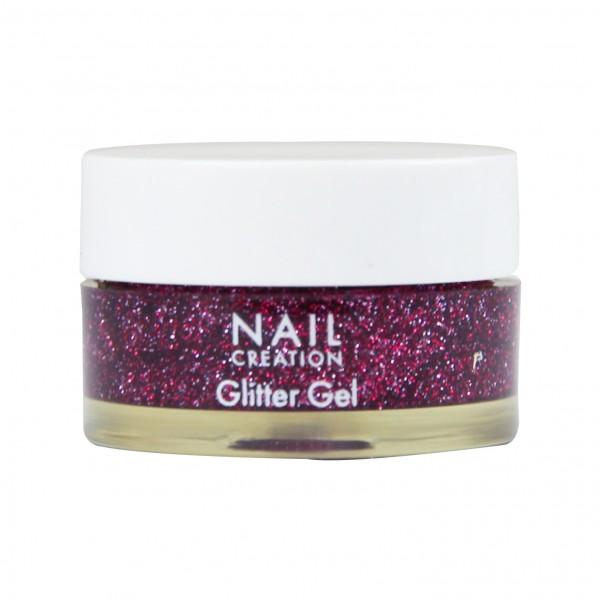 Afbeelding van Nail Creation Glitter Gel - Burgundy 5 ml