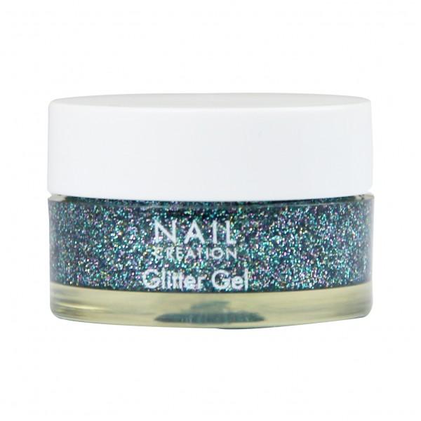 Afbeelding van Nail Creation Glitter Gel - Ice Blue 5 ml