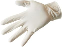 Latex handschoenen gepoederd