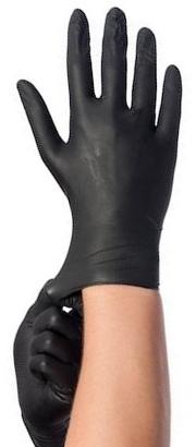 Soft-Nitrile Handschoenen - ZWART - Maat L