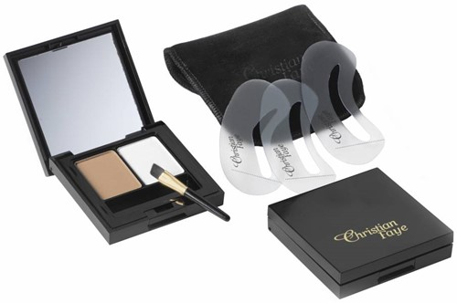 Christian Faye Duo Set : Wenkbrauwpoeder + Highlighter - Light
