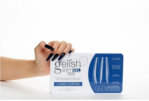 Gelish - Soft Gel Tips Long Coffin
