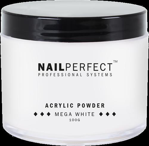 Nail Perfect Acryl Powder - Mega White - 100 gr