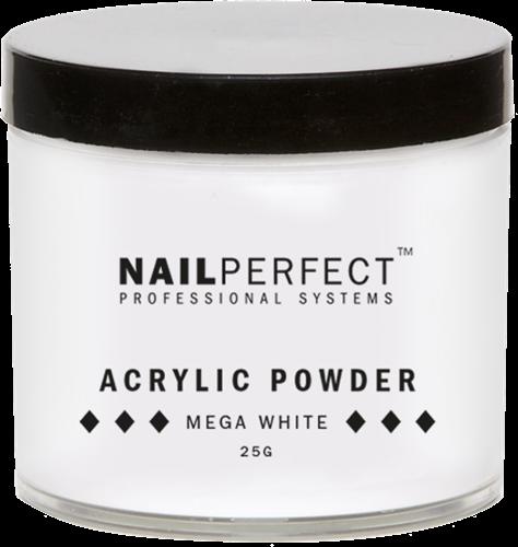 Nail Perfect Acryl Poeder - Mega White 25 gr