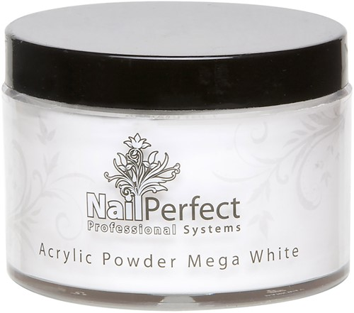 Nail Perfect Premium Poeder - Mega White 165 gr