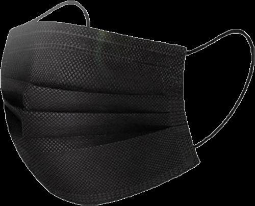 5x50st mondmaskers Zwart