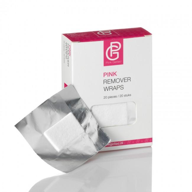 Afbeelding van Pink Gellac - Remover Wraps 20 pcs