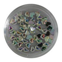 Afbeelding van Strass steentjes - Hart zilver rainbow