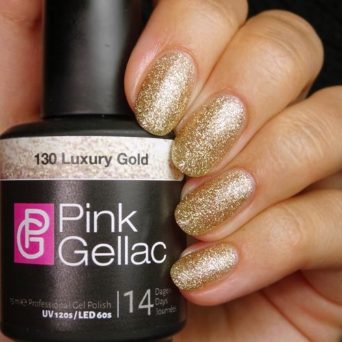 Pink Gellac #130 Luxury Gold