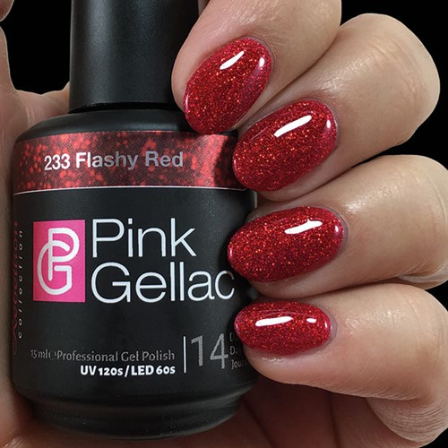 Pink Gellac #233 Flashy Red